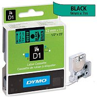 Dymo D1 Tape 45019 12mm x 7m Black on Green S0720590