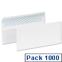 5 Star Eco Envelopes Recycled Wallet Plain Press Seal DL White (Pack 1000)