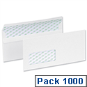 Ecolabel DL Window Envelopes Recycled Wallet White Press Seal Pack 1000