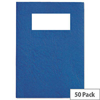 GBC Binding Covers Leatherboard Window 250gsm A4 Blue 46735E Pack 25x2