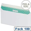 Basildon Bond DL Envelopes White Peel and Seal Wallet Recycled Pack 100