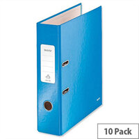 Leitz 180 Wow 80mm Metallic Blue A4 Lever Arch File Pack of 10