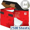 A4 White 80gsm Multifunctional Printer Paper Box of 2500 Sheets 5 Star