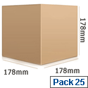 Ambassador Packing Box Carton Single Wall Strong Flat-packed Internal Dimensions 178x178x178mm SC-04 Pack 25