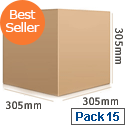 Double Wall 127x127x127mm Brown Corrugated Dispatch Packing Cardboard Boxes (Pack of 25)