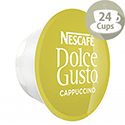 Nescafe Cappuccino for Dolce Gusto Machine PK48 Capsules - Makes 24 Drinks
