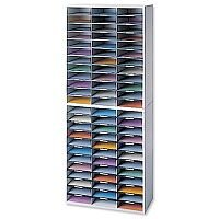 Fellowes Mailroom Sorter Literature Melamine-laminated Shell 72 Compartments