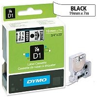 Dymo D1 Tape 45803 19mmx7m Black on White S0720830