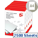 A4 Value 80gsm White Multifunctional Printer Paper Box of 2500 Sheets Box