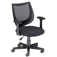 Influx Gleam SoHo Task Operator Office Armchair Mesh Seat Black