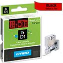 Dymo D1 Tape 40917 9mm x 7m Black on Red S0720720