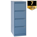 Bisley 4 Drawer Filing Cabinet Blue BS4E