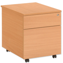 Trexus Basics Mobile Filing Pedestal 2 Drawer W430xD850xH515mm Beech