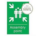 Fire Assembly Point Sign 600 x 400 mm PVC KS009PVC
