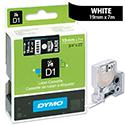 Dymo D1 Tape 45811 19mm x 7m White on Black S0720910