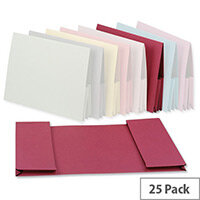 Guildhall Legal Wallet Double Pocket Manilla 2x35mm Foolscap Pink Pack of 25
