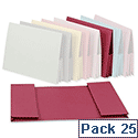 Legal Wallet Double Pocket Manilla 2x35mm Foolscap Pink Pack 25 Guildhall