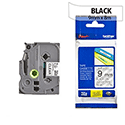 Brother TZ121 P-touch TZ Tape 9mm x 8m Black on Clear