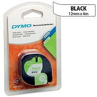 Dymo LetraTag Tape Paper 91200 12mm x 4m Pearl White S0721510
