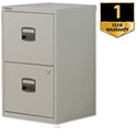 2-Drawer Steel Filing Cabinet A4 Lockable Grey Trexus SoHo