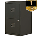 2 Drawer Steel Filing Cabinet A4 Lockable Black Trexus SoHo