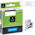 Dymo D1 Tape 45020 12mm x 7m White on Clear S0720600