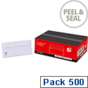 DL White Peel and Seal Envelopes Wallet  Pack 500 5 Star