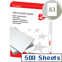 A3 Value 80gsm White Printer Paper Ream of 500 Sheets 5 Star