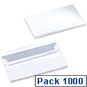 5 Star Office Envelopes Wallet Press Seal White DL (Pack 1000)