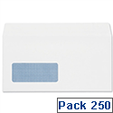 DL Window Envelopes White Wallet Press & Seal Pack 250 Plus Fabric