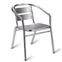 Plaza Cafe Armchair - Aluminium