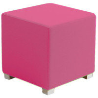 Link Cube Stool Pink