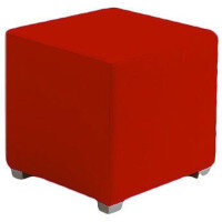 Link Cube Stool Red