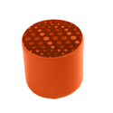 Link Radius Circular Stool Orange