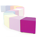 Link Segment Angled Cube Stool Pink