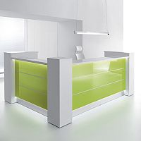 Valde High Gloss Illuminated Reception Unit - L Formation RD24