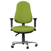 OE Series High Back Posture Operator Office Chair - Green Fabric