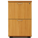 Desk High 2 Drawer Filing Cabinet (600 Deep) Beech