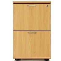 Desk High 2 Drawer Filing Cabinet (600 Deep) Oak