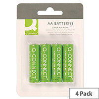 Q-Connect Super Alkaline AA Batteries 4 Pack