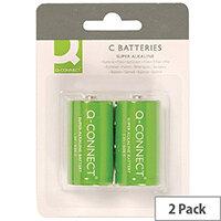 Q-Connect Super Alkaline C Batteries Pack of 2