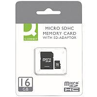 Q-Connect Micro SDHC Card 16GB Class 10 With SD Adaptor KF16012