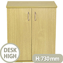 Jemini Intro Desk High Cupboard 600mm Wide Ferrera Oak