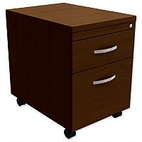 Mobile Filing Pedestal 2-Drawer Dark Walnut Kito