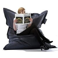 Large Black Bean Bag For Indoor and Outdoor Use