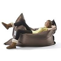 Large Brown Bean Bag For Indoor and Outdoor Use