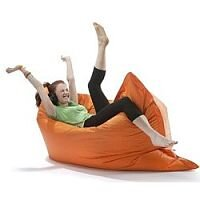 Large Orange Bean Bag For Indoor and Outdoor Use