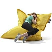 Large Yellow Bean Bag For Indoor and Outdoor Use