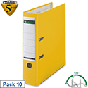 Leitz Yellow Plastic Lever Arch File A4 Pack 10