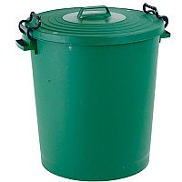 Light Duty Dustbin with Lid 110 Litre Green - Made from light duty plastic for everyday waste disposal - Tight fitting lid keeps contents dry - Bright colours enable you to colour coordinate waste disposal